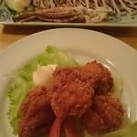 居酒屋楽蔵 - イカと鶏のから揚げ