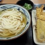 丸亀製麺 - ひやかけ&かしわ天&鱧天