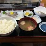浜茶屋 協栄 - いわし刺身定食1,150円