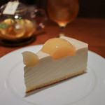 ハーブス - 白桃のレアチーズケーキ☆