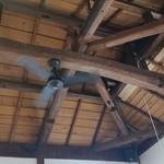 カキノキテラス - 天井にシーリングファンがある部屋ってステキです