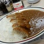 41177403 - 15.08.21:ジャンボ餃子カレー少しご飯増し