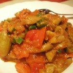 茄子とひき肉の炒め物