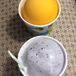 小谷サービスエリア(下り線)内 ドルチェ - 料理写真:マンゴージェラートとブルーベリージェラート