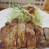 Karaageya - 料理写真:メインのポークステーキです、ソースとの絡みも抜群でボリュームも申し分ありませんでした。