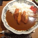 とり田 - 水炊きスープで作る 『チキンカツカレー』(大盛り)(3回目)