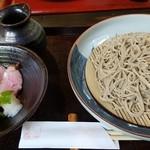 四季の里 蕎麦 季里 - 鴨と揚げ野菜の蕎麦