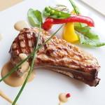 ビストロ菜フェスタ - 骨付きラム肉のクレーム・ド・ジンギスカン