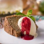 ビストロ菜フェスタ - 紅茶のシフォンケーキとバニラアイス添え