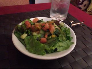 タムタム - ランチセットのサラダ。野菜は食感が良く、ドレッシングも味付け良し!