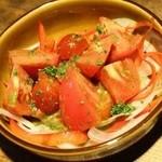 角打ち 神田小西 - タパス夏のジューシートマトサラダバジルソース550円+税