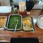 上野製麺所 - 薬味コーナー