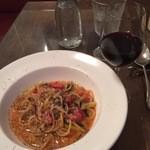 41204120 - スパゲティ牛肉のラグーソースと、赤ワイン