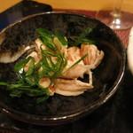 日本酒ワイン食堂 雫 - 地鶏の梅和え
