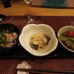 日本酒ワイン食堂 雫 - おつまみ3種