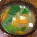 とんかつ 太郎福 - 味噌汁