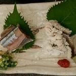 Sushizammai - 新さんまと鱧(はも)の刺身2点盛り