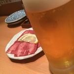 美山の味 勝手屋 - 【口取り】サッポロ黒(生) 650円