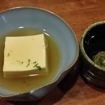 41211827 - 【H27.8.23】とうもろこし豆富(群馬泉の仕込水でひいた出汁を使用)。