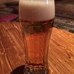 町田っ子ダイニング ペコリ - まずはビールで 乾杯♪(〃゜▽゜)ノ□☆□ヽ(゜▽゜*)♪