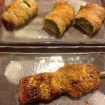 41215303 - ゴーヤの肉巻焼カレー味、豚カルビのカレースパイス焼