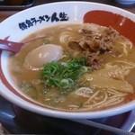 徳島ラーメン人生 - 徳島ラーメン煮卵プラス750円