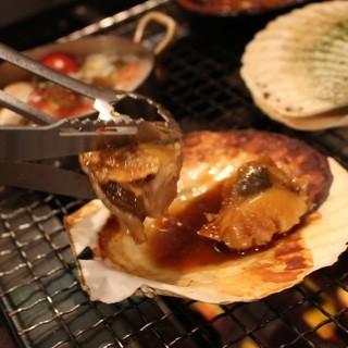 まるで本場広島のかき小屋!自分で食材を焼くBBQスタイル!