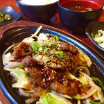 清香園 - 焼肉定食 940円