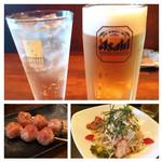 Suzaku - 飲み物たち・つくね・すざくサラダ