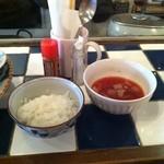 舶来居酒屋 オフ ショアー - 定食のごはんとスープ