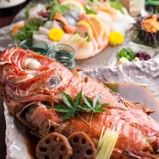 当店自慢の新鮮鮮魚の創作料理♪2h飲放付2978円~