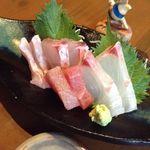 41229515 - 石垣島直送鮮魚 刺身4種×2切れ盛り
