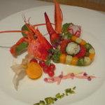 ピッコロ・カプリーチョ - 活けオマール海老と旬野菜のテリーヌ