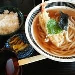 紀玄 - 料理写真:天ぷらうどんとミニご飯