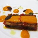 & ecle - ケッパー風味の冷製ラタトゥイユ&エスプレット唐辛子   with赤ピーマンクーリ