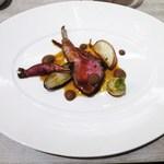 & ecle - タイム風味のローストラム&長野県産野菜のフリカッセ  withブラックオリーブクーリ