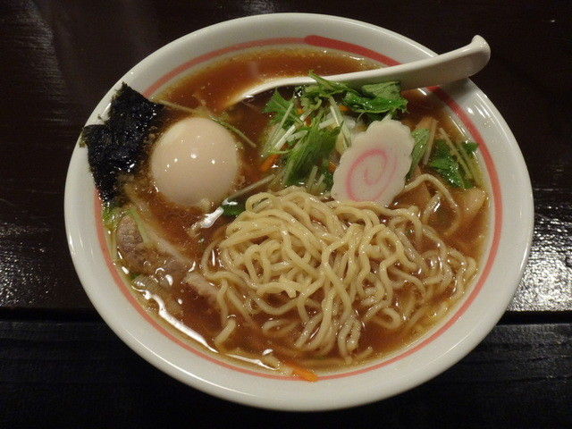 ダイニング 麺夢や - 夢や温野菜ラーメン+味付け玉子