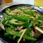中華料理絋月 - 『肉ピーマン竹の子炒め』¥1100-