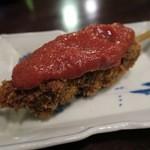 ゴールデンモッツ - レバカツサルサ(モッツコース1000円の一品)