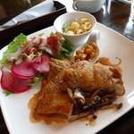 41237684 - 鶏肉ポワレバルサミコソース