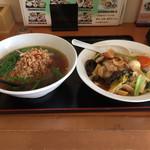 台湾料理 龍香 - ⚫︎ラーメンセット=680円    台湾ラーメン+中華飯