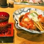 本等鮨 海馬 - 「金目鯛あら炊き」にはお酒が合う!!