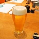 本等鮨 海馬 - スタートは生ビール♪