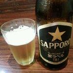 麺屋 龍 - サッポロ黒ラベル中瓶