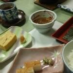 堂ヶ島温泉ホテル - 西伊豆ということで心太(ところてん)が出ました。