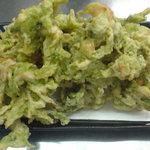 さしみ亭 - アーサの天ぷら