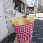 ヒロシ - 料理写真:キャラメル生クリーム(くるみトッピングのサービスで450円)