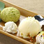 全席個室居酒屋 柚柚~yuyu~ - ずんだ福餅のバニラアイス添え