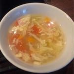 中華香彩JASMINE - ランチのスープ
