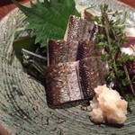 酒菜・からく - 秋刀魚の炙り刺 980円